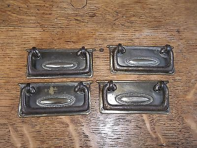 4  Vintage Georgian Brass Pull Handles for a Draw