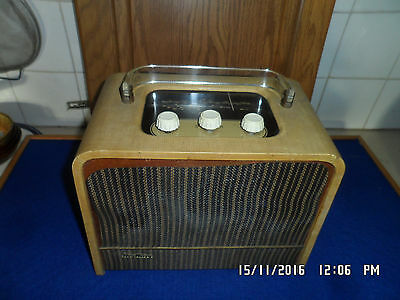 Rare Vintage 1950s EverReady Sky King, Portable Valve Radio for Restoration