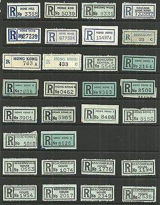Selection/lot/study 57 Registered Labels From Hong Kong Beaconfield House