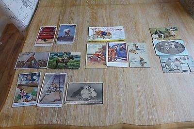 Antique Job Lot 14 Printed Comic Seaside Humour Postcards - some clear postmarks