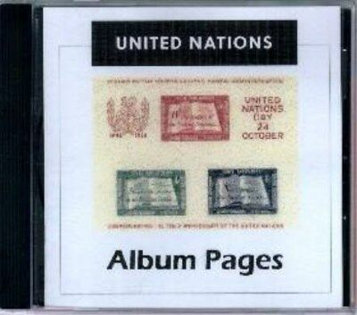 United Nations CD-Rom Stamp Album 1951-2015 Color Illustrated Album Pages