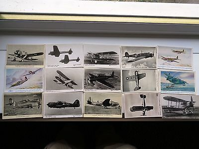 Aviation Colection Of 15 Cards     12  Old Real Photo  Postcard's  Lot 7