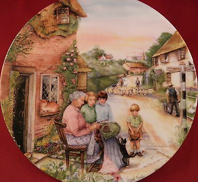 Royal Doulton Plate The Lacemaker Old Country Crafts Susan Neale 1991