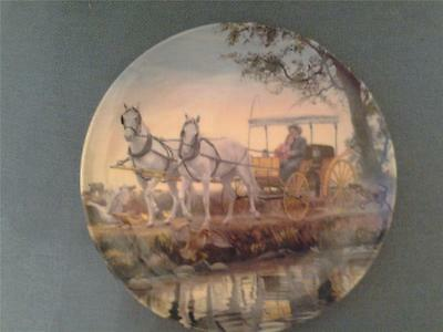 Edwin Knowles The Surrey With The Fringe On Top Oklahoma Plate + Certificate