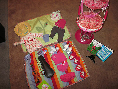 American Girl Doll Accessories Violin Chair Clothing Shoes Hat Slippers REDUCED!
