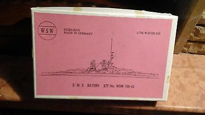 WSW resin kits made in Germany - S.M.S. BAYERN 1/700  - n°700-05 -  NUOVO/NEW