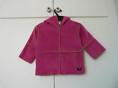 Prappers Fleece Hoodie Pink & Green From Cornish Boutique Age 2-3 Years
