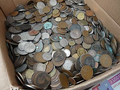 1.5Kg MIXED BRITISH WORLD COINS- FREE UK DELIVERY