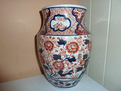 Early 20Thc Japanese Porcelain 24Cmhigh Imari Blue/red/gilt H/p Pattern Lampbase