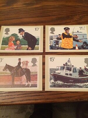 British Stamps Postcards PHQ 39 1979 Police Mint Condition