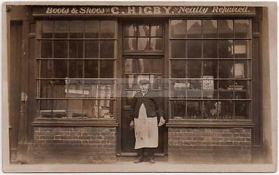 C Higby 1911 SHOPFRONT - Boot & Shoe Repair Cobbler - Unlocated/Mystery/Unknown