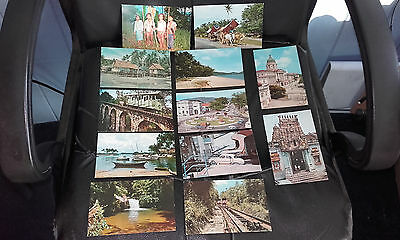 Collection X 12 Vintage R/p(Photo)Postcard(Singapore/malaysia/penang/rail/ferry