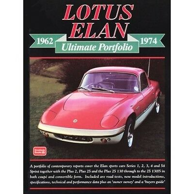 Lotus Elan Ultimate Portfolio 1962-1974 book paper
