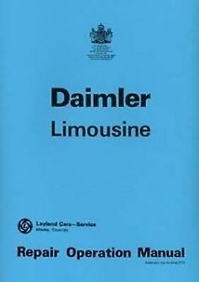 DAIMLER Limousine shop Manual Book Catalogue paper car