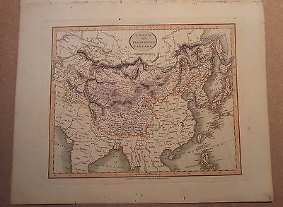JOHN CARY MAP OF CHINESE INDEPENDENT TARTARY  1813 FROM HIS New Elementary Atlas