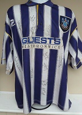 MATCH WORN WEST BROM HOME SHIRT #11 IAN HAMILTON -SIGNED BY 20 1st TEAM 1996/97