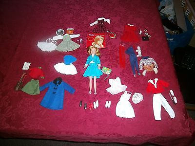 Palitoy American Character Toots Cricket Tressy Doll 1960s + 8 Outfits
