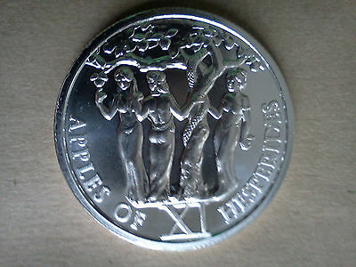 Apples of Hesperides 1 Oz .999 Silver Round 12 Labors of Hercules 11th in Series
