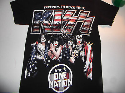 KISS Freedom to Rock Concert Tour 2016 Shirt Authentic SMALL Boise Show RARE oop