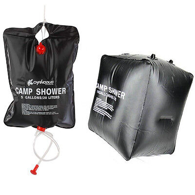 Portable Solar Heated Outdoor Camping Hiking Travel Shower Bathing Water Bag BS