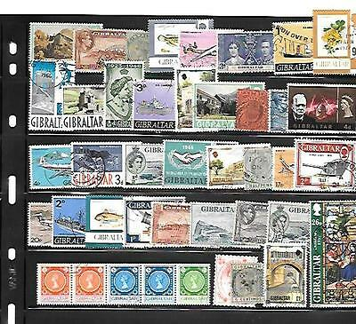 Gibraltar Stamps - 40 Different Used.