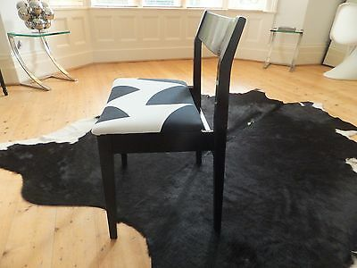 Stunning Vintage Mid Century Retro 1960S Danish Occasional Chair Black & White