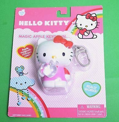 Hello Kitty Magic Apple Keychain Lights Up & Changes Color Toy Collectible