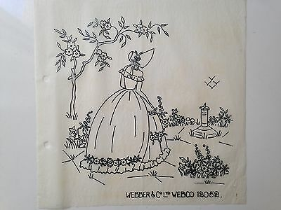 Two Vintage Embroidery 2 x Patterns IRON Transfer ' Webber & Webco ' NEW