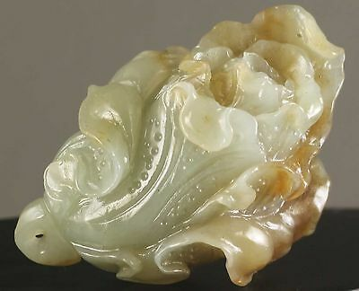 Chinese natural Hetian jade hand-carved statue cabbage NO.W1006