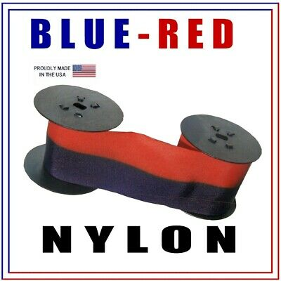 Lathem 2000, 3000, 4000 Series Compatible Ink Ribbon BLUE-RED, Nylon
