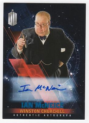 DOCTOR WHO Timeless - IAN McNEICE as Winston Churchill - Autograph - Blue - 9/50