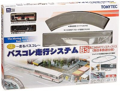 Moving Bus System Basic Set B3 (Red Bus) 1/150 N scale Tomytec