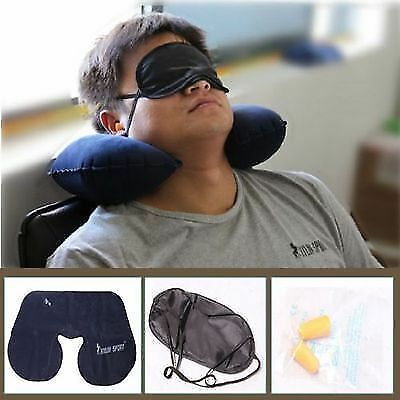 Travel Gear Sets Air Pillow Inflatable Eyeshade Acoustic Earplugs Unit Gifts