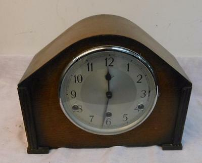 oak cased westminster chimes mantel clock by bentima