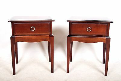Pair Stag Minstrel Bedside Tables 2 Bedside Cabinets Mahogany Chest of Drawers