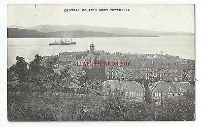 Scotland Central Gourock from Tower Hill Vintage Postcard 25.11