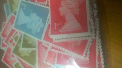 500 1st Class Unfranked Stamps Off Paper