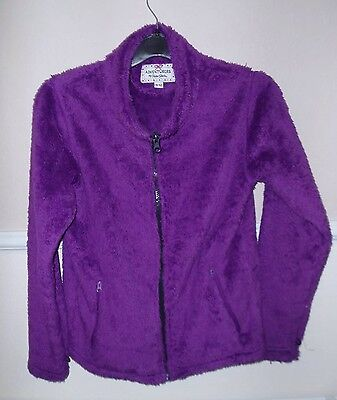 Girls Jacket Size 11-12 Furry Peter Storm Coat Purple Kids Childrens Used Top