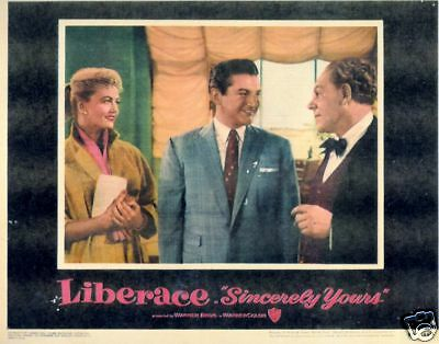 Sincerely Yours Lobby Card # 2 LIBERACE Reproduction