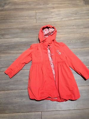 Beautiful Soft Touch Puff Ball Girls Coral coat by Vertbaudet age 7-8
