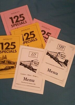 intercity 125 Specials with menu. 1989