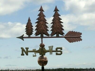 """Copper   """" Trees """" Weathervane  Made In Usa #301"""