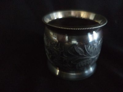 "Victorian Silverplate Napkin Ring ""mother"" Floral Pattern"