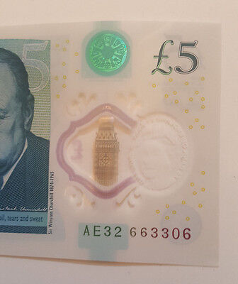 New £5 Note AE32 66 33 06