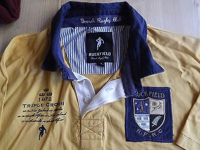 Ruckfield French Rugby club shirt 1972 Triple crown XXL Mustard colour