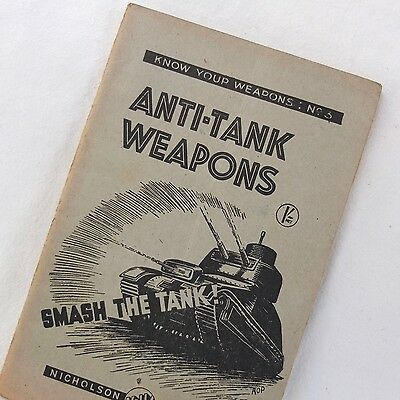 Ww2 1942 Anti Tank Weapons Manual Grenades Molotov Cocktail Rifle Sip Bombs Book