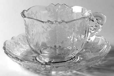 Cambridge WILDFLOWER CLEAR Cup & Saucer 48640