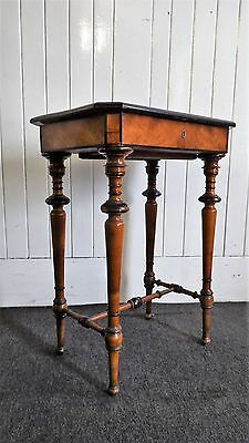 Antique Victorian sewing box / needlework / works table