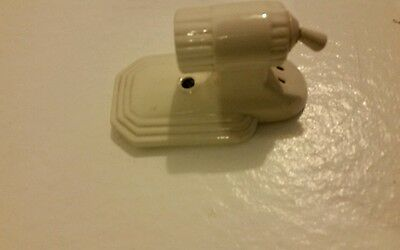 Vintage Art Deco porcelain bath wall sconce