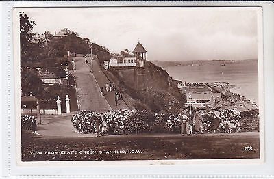 Vintage Postcard View From Keats Green, Shanklin, Isle Of Wight Lift